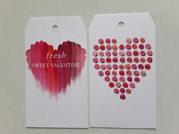 "FRESH  ~~~étiquette Saint Valentin  2018  ""  R/V!! - Perfume Cards"