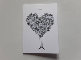 """FRESH  ~~~carte Double Saint Valentin  2018  """"  R/V!! - Perfume Cards"""