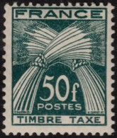~~~ France 1946/1955 - Taxe 50 Franc - Yv. 88 ** MNH OG  - CV 28.50 Euro ~~~ - Strafport