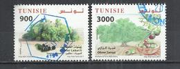 TUNISIA 2017 - OLIVE TREES - CPL.SET - POSTALLY USED OBLITERE GESTEMPELT USADO - Tunisia