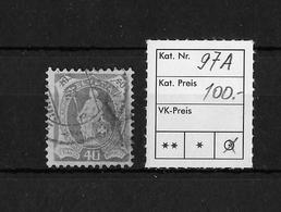 1882-1906 STEHENDE HELVETIA → SBK 97A - 1882-1906 Armoiries, Helvetia Debout & UPU