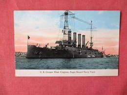 US Cruiser West Virginia Puget Sound Navy Yard   Ref 3154 - Oorlog