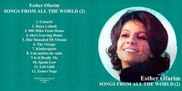Superlimited Edition CD Esther Ofarim. SONGS FROM ALL THE WORLD (2) - Country & Folk
