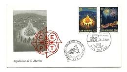 1981 - San Marino 1069/70 Europa - FDC - 1981
