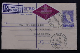 MALAISIE - Entier Postal + Complément En Recommandé De Kuala Kangsar En 1963 Pour Kuala Lumpur - L 22322 - Federation Of Malaya