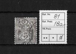 1882-1906 ZIFFERMUSTER → SBK-81 - Used Stamps