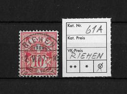 1882-1906 ZIFFERMUSTER → SBK-61A Riehen - 1882-1906 Armoiries, Helvetia Debout & UPU