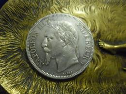 5 FRANCS ECU 1868 A Paris ARGENT NAPOLEON III Tête Laurée @ Le Franc F.331 - J. 5 Francs