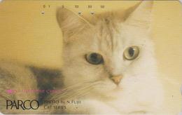 Télécarte Japon / 110-37089 - ANIMAL - CHAT ** PARCO ** - CAT Japan Phonecard - V1 - KATZE - 4972 - Chats