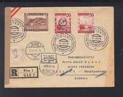 Österreich R-Brief 1946 Wien Nach Zürich Nicht Angeholt - 1945-60 Briefe U. Dokumente