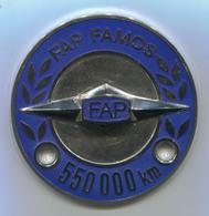 FAP FAMOS 550000km - Yugoslavia, Industrial Vehicles, Truck, Camion, Enamel, Insignia, Badge, Abzeichen, Diameter: 60mm - Camions