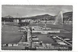 21429 -  Genève La Jetée Des Pâquis, Le Jet D'Eau + Cachet Fêtes De Genève 1950 - GE Genève
