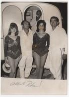 Photo Originale Années 50 60 Le Cirque PINDER à Forcalquier Artistes Dédicace Caravane - Signed Photographs
