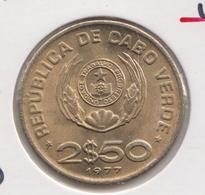 @Y@    Kaapverdische Eilanden    2 1/2  Escudo 1977   UNC     (3590) - Cap Verde