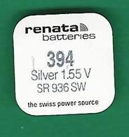 PILE V 394 SR 936 SW WATCH BATTERIES  RENATA QUARTZ ORIGINE NEUF - Orologi Moderni