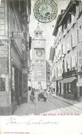 CPA Suisse Canton De Vaud VD Vevey Rue D'Italie Et Tour De Saint Jean St Publicité Ricqles - VD Vaud