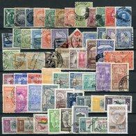 Bolivien Lot       O  Used, ** MNH + (*)  No Gum       (298) - Bolivien