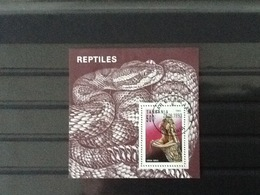 Tanzania 1993 Block Reptiles Used. - Tanzanie (1964-...)