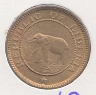 @Y@    Liberia  1/2  Cent  1937    Olifant / Elephant     (3068)   UNC - Liberia