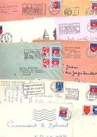 FRANCE MARCOPHILIE BLASONS LOT DE LETTRES DE 1.180 GRAMMES - Lots & Kiloware (mixtures) - Min. 1000 Stamps