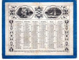 ALMANACH-CALENDRIER  Lithographie  1855  Allégorie  Vie à La Campagne    Second Emprire Napoléon III - Calendriers