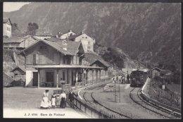 Gare  De Finhaut- Bahnhof - Chemin De Fer - Eisenbahn - Belebt - Animée - VS Wallis