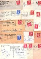 FRANCE MARCOPHILIE MARIANNE DE MULLER LOT DE LETTRES DE 860 GRAMMES - Lots & Kiloware (mixtures) - Min. 1000 Stamps