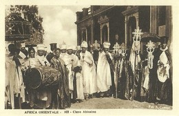 """2514 """" AFRICA ORIENTALE - CLERO ABISSINO """" CARTOLINA ORIGINALE NON SPEDITA - Etiopia"""