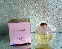 """Miniature De Parfum """"ATTRACTION De LANCÔME  Eau De Parfum 7 Ml Avec Sa Boîte - Miniatures Modernes (à Partir De 1961)"""