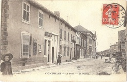 Dépt 55 - VIGNEULLES-LÈS-HATTONCHÂTEL - La Poste - La Mairie - Rameau, Éditeur - Vigneulles Les Hattonchatel