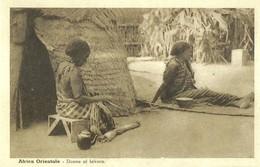 "2515 "" AFRICA ORIENTALE - DONNE AL LAVORO "" CARTOLINA ORIGINALE NON SPEDITA - Etiopia"