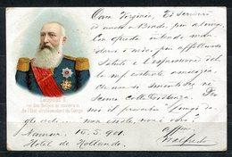 CARTOLINA CV2345 BELGIO BELGIQUE Léopold II, 1901, Viaggiata Per L'Italia, Formato Piccolo, Francobollo Asportato, Buone - Belgique