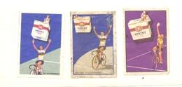 """3 Façades Boîte D'allumettes - Etiquette - Publicité Cigarettes """" Sprint""""  Cyclisme , Rik Van Steenbergen, Vélo (bac) - Boites D'allumettes - Etiquettes"""