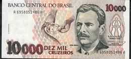 BRAZIL P233c 10000 Or 10.000 CRUZEIROS 1993  #A6958 Signature 17 UNC. - Brazil