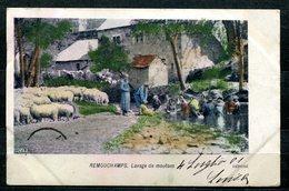 CARTOLINA CV2346 BELGIO BELGIQUE Remouchamps, Lavaggio Delle Pecore, 1901, Viaggiata Per L'Italia, Formato Piccolo, Fran - Belgio