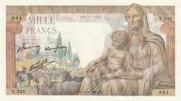 Billet De 1000 Francs DEESSE DEMETER  Billet Neuf Du 11 06 1942 Ref Fayet F 40 02 - 1871-1952 Anciens Francs Circulés Au XXème