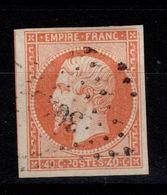 YV 16 Oblitere , 4 Marges + 1 Voisin, Pas Aminci - 1853-1860 Napoleone III