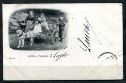 CARTOLINA CV2348 BELGIO BELGIQUE Lattaie Fiamminghe Laitières Flamandes, 1901, Viaggiata Per L'Italia, Formato Piccolo, - Belgio