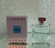 """Miniature De Parfum """"CHROME""""  D' AZARRO  Eau De Toilette 7 Ml Avec Sa Boîte - Miniatures Hommes (avec Boite)"""