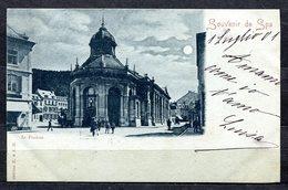 CARTOLINA CV2350 BELGIO BELGIQUE Spa Le Pouhon Au Clair De Lune, 1901, Viaggiata Per L'Italia, Formato Piccolo, Francobo - Spa