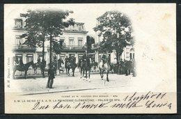 CARTOLINA CV2351 BELGIO BELGIQUE Spa La Reine E La Princesse Clémentine, 1901, Viaggiata Per L'Italia, Formato Piccolo, - Spa