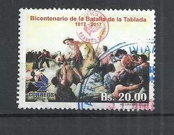 BOLIVIA 2017 - BICENTENARY OF THE BATTLE OF LA TABLADA - POSTALLY USED OBLITERE GESTEMPELT USADO - Bolivie