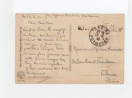 Sur Carte Postale Humoristique En F.M.CAD Issoire Puy De Dôme Août 1940. Cachet Dépot D'artillerie. (1073x) - Marcophilie (Lettres)