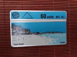 Phonecard Aruba Eagle Beach 402 C  Used - Aruba