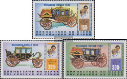 Niger 804-806 (complete Issue) Unmounted Mint / Never Hinged 1982 Prince William - Niger (1960-...)
