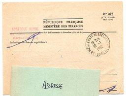 LOIRE ATLANTIQUE - Dépt N° 44 = LA MEILLERAYE De BRETAGNE 1962 = CACHET A8 + FRANCHISE MINISTERE DES FINANCES - Manual Postmarks