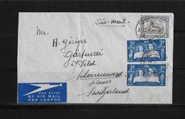 1947 SÜDAFRIKA → Luftpost-Brief Capetown Nach Schönenwerd/Schweiz - Lettres & Documents