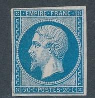 """CM-55: FRANCE: Lot """"NAPOLEON""""  N°14A* Gomme Partielle - 1853-1860 Napoléon III"""