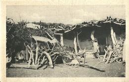 """2521 """" ERITREA ABITAZIONI ABISSINE """" CARTOLINA ORIGINALE NON SPEDITA - Eritrea"""