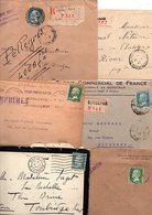 FRANCE MARCOPHILIE TYPE PASTEUR LOT DE LETTRES 55 GRAMMES - Timbres